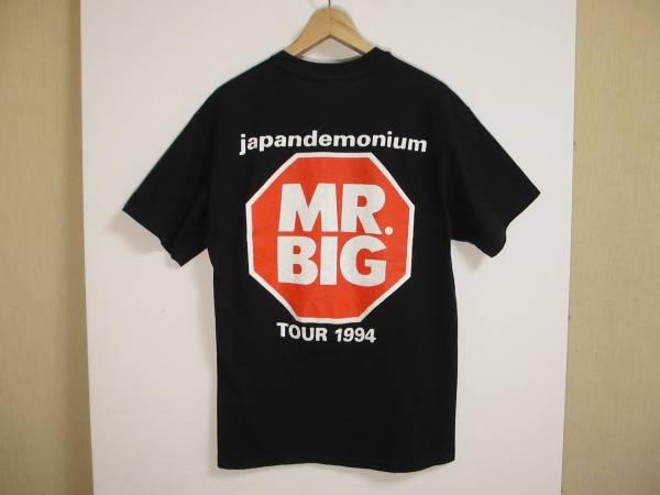 90s当時物 MR,BIG ミスタービッグ 1994ツアーTシャツ 両面プリント コピーライト入り シングルステッチ サイズL 送料164円