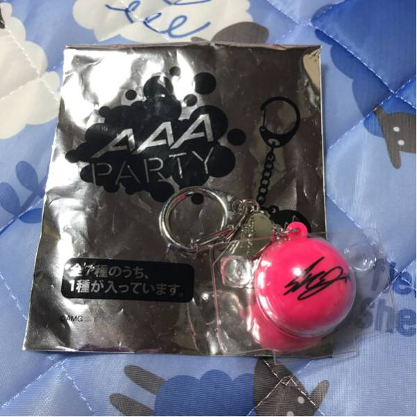 AAA Special Live 2016 in Dome -FANTASTIC OVER -AAA Party会員限定サンキュードームサインボールキーホルダー 桃 末吉秀太④
