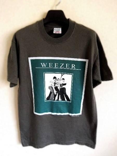 WEEZER ウィーザー 2002ツアーTシャツ S カーキ系 オルタナティブ ロック クリックポスト