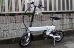 即決即送!!本州送料無料 展示品処分 14インチアルミホイル 折りたたみ電動アシスト自転車 白