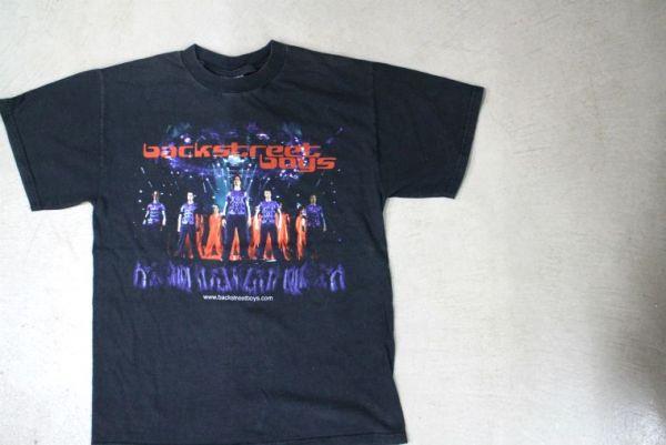 【古着 WINTER LANDバックストリート・ボーイズ両面プリントツアーTシャツ黒M】backstreetboysアメリカグループBSB