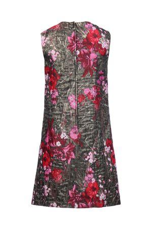2017aw DOLCE&GABBANA floral lurex jacquard short dress ドルチェ&ガッバーナ フローラルジャガードドレスワンピース マルチカラー