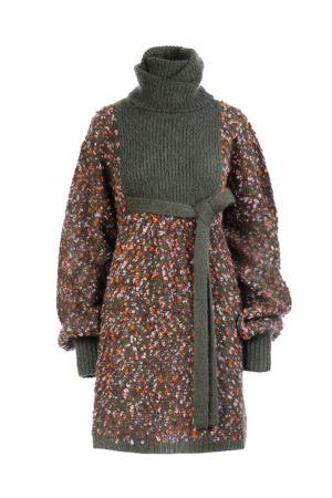 2017aw CHLOE knit short dress クロエ ニットショートドレス Multicolor Brown 送料関税込