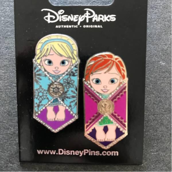 新品 海外限定 ディズニー ピントレ ピンバッジ アナと雪の女王 アナ雪 アナ エルサ ディズニーグッズの画像