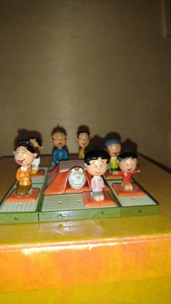 サザエさん一家ミニフギュア。 グッズの画像