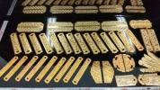 寺院用 中打ち金具本金メッキ在庫整理の為2000円から売り切