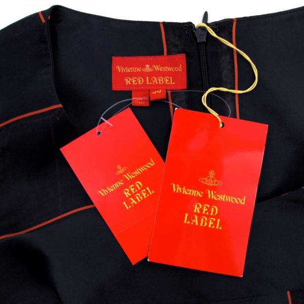 新品 ヴィヴィアンウエストウッド シルクミックス ドレス ブラック(黒)38(Mサイズほど) 定価15万 ★VIVIENNE WESTWOOD RED LABEL 送料無料_画像3