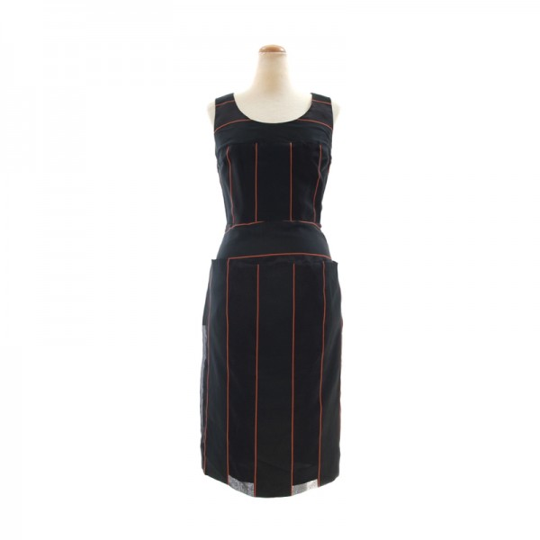 新品 ヴィヴィアンウエストウッド シルクミックス ドレス ブラック(黒)38(Mサイズほど) 定価15万 ★VIVIENNE WESTWOOD RED LABEL 送料無料_画像1