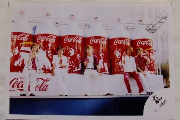 嵐 公式写真1枚 2003年コカコーラCM 大野智櫻井翔相葉雅紀二宮和也松本潤 嵐ロゴ