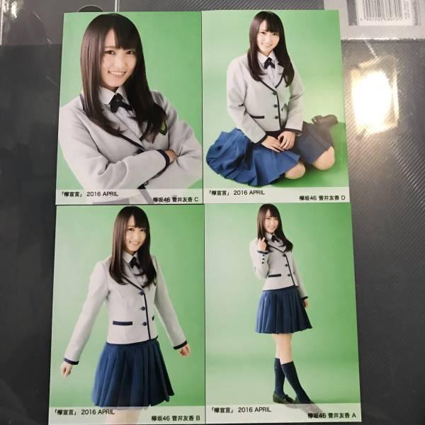 菅井友香 欅坂46 欅宣言 2016 April 4月 4種 コンプ 生写真