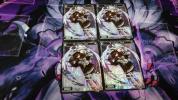 ウィクロス WIXOSS BLACK CONFLATION -ウリス&グズ子- ブラックコンフレーション スターター ホロ パラレル 4枚組 サーバントD2