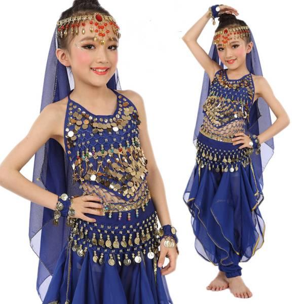 子供服6点セット ベリーダンス 衣装 インドダンス 衣装 民族衣装 ジャスミン アラジン アラビアン 仮装 アラジン衣装 ディズニーグッズの画像