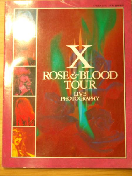 X (X JAPAN) ROSE&BLOOD TOUR LIVE PHOTOGRAPHY 写真集