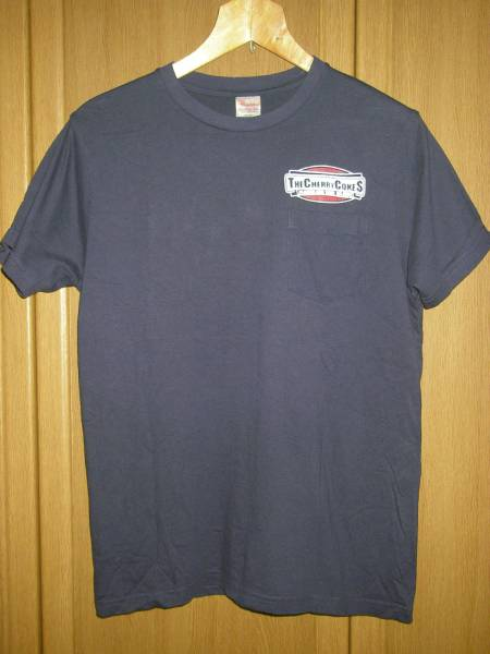 チェリーコークス 紺 ネイビー ポケT ポケット Tシャツ S ( オールディックフォギー ラディオッツ ロデオス フロッギングモリー ポーグス