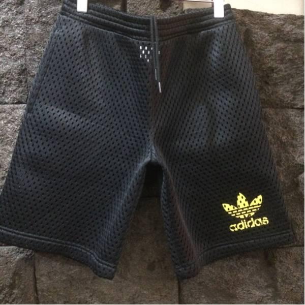 美品/adidas originals × jeremy scott/メッシュ/ショートパンツ ショーツ/S/BLK/アディ