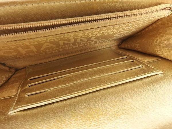 1円 シャネル 二つ折り デニム 財布 ブラック HS172_画像4