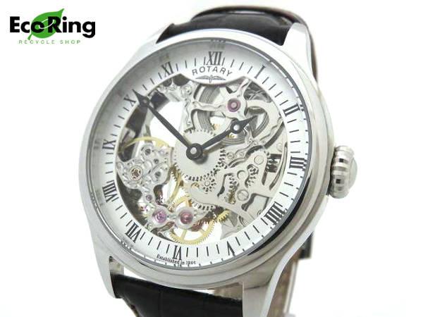 1円 ロータリー GS02521/06 スケルトン 2針 手巻き SS メンズ腕時計 BR680