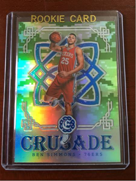最新16-17 Excalibur NBA Ben Simmons 76ers RC Crusade Camo Prizm Retail Only レア グッズの画像