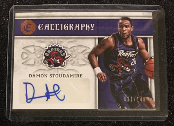 最新16-17 Excalibur NBA Damon Stoudamire Raptors Auto 011/149枚限定 グッズの画像