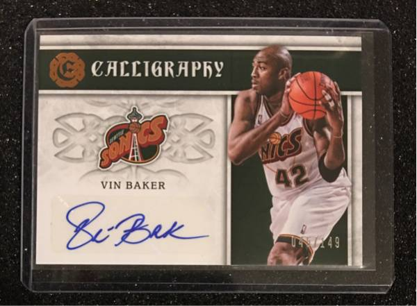 最新16-17 Excalibur NBA Vin Baker Auto Super Sonicks 045/149枚限定 グッズの画像