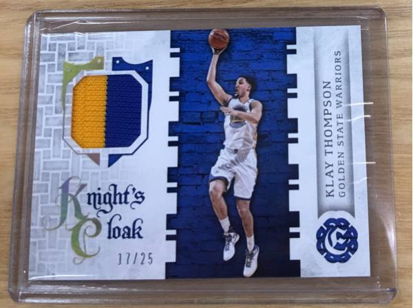 最新16-17 Excalibur NBA Klay Thompson Warriors 17/25枚限定 Patch レア!! グッズの画像
