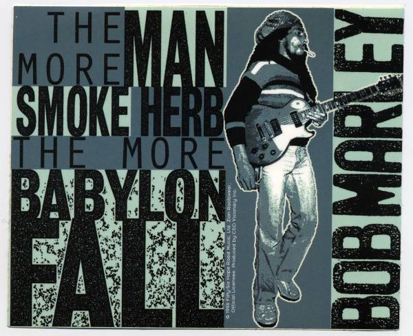 ★ Bob Marley - More Man Smoke... Sticker ボブマーリーステッカー ★ デッドストック