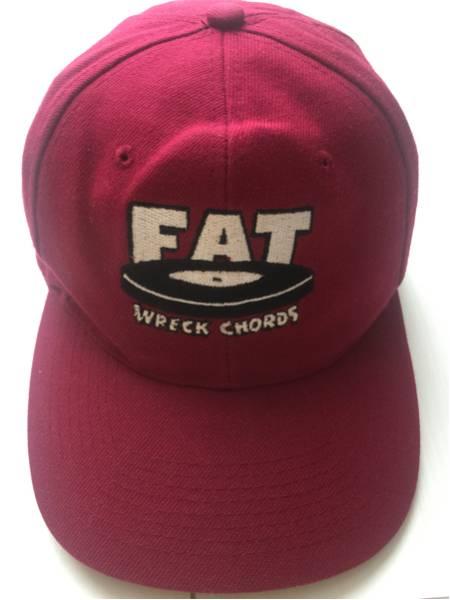 送料無料FAT WRECK CHORDS LOGO CAP ファットレック オフィシャル バンド キャップ 帽子 BAND SNAP back レコード NOFX ハイスタ epitaph