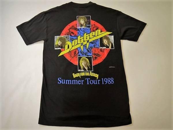 80's 美品◆Dokken ドッケン◆ビンテージ Back for the Attack 1988年 サマーツアーTシャツ