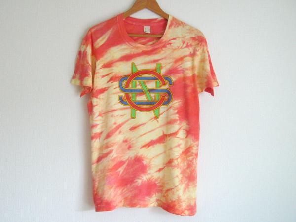 クロスビー スティルス&ナッシュ CSN タイダイロゴTシャツ USA 70s80s ビンテージ バンドTロックT アメリカ古着 ニールヤング