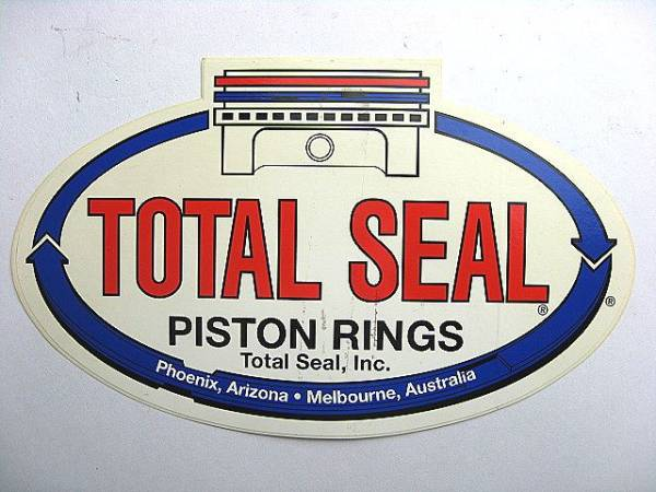 Total Seal Piston Rings ピストン ビンテージ デカール HOTROD FORD CHEVY_Total Seal Piston Rings ビンテージです!