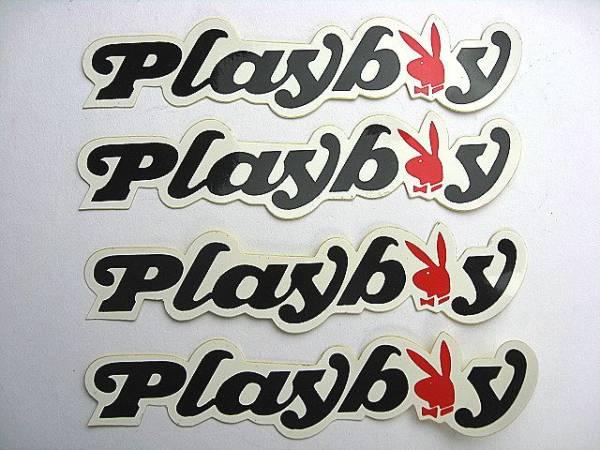 1980's PLAYBOY ビンテージデカール 4枚!