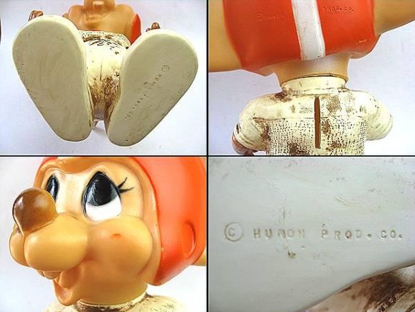 レア!1970's トッポジージョ ビンテージ 貯金箱 フットボール 赤ヘルメット_1970's トッポジージョ ビンテージ 貯金箱