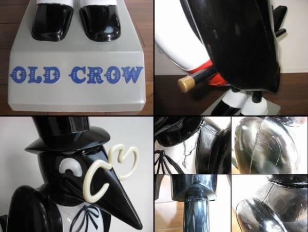 特大77cm!1960's OLD CROW オールドクロウ バーボン ウイスキー ディスプレー_特大77cm!1960's OLD CROW ビンテージ !