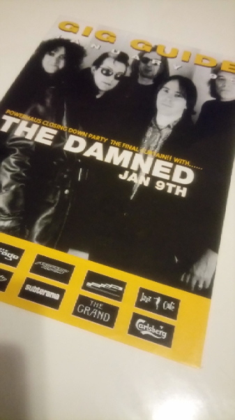 激レア THE DAMNED LONDON GIG GUIDE 1995年 1月