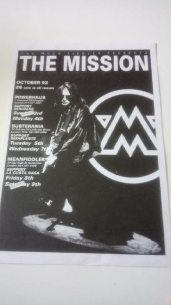 激レア The Mission 1993年 London チラシ