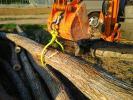 土木工事に★丸太トング★木ハサミ 吊りけん引集材 バケットフック クレーン 林業 薪 原木 ツカミ