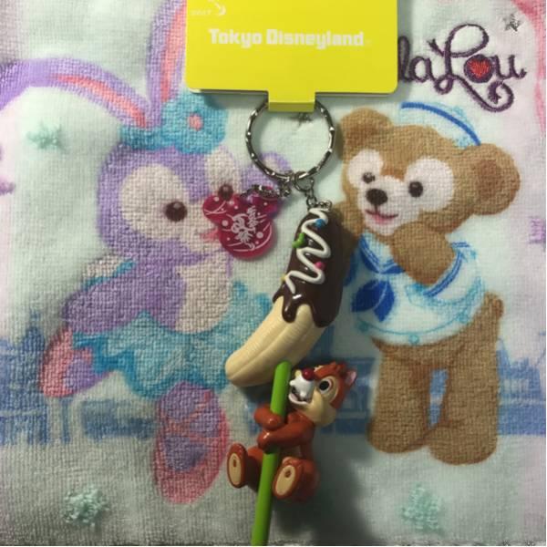 東京ディズニーランド2017年夏祭り限定 チップ&デール デール チョコバナナ キーチェーン 新品 ディズニーグッズの画像
