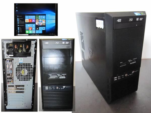 サクサク Core i7~3.6Ghz/8G/新SSD120G+1.5T/GTX470/ブルーレイ/W10Pro/office2013