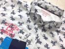 新品◆カッター&バック フラワープリント 吸水速乾 半袖ポロシャツ/白/サイズL