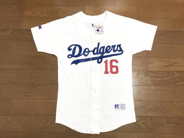 MLB ドジャース 野茂英雄 #16 応援ユニフォーム Russell グッズの画像