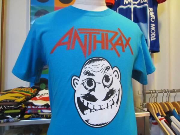 アンスラックス ノットマン オフィシャル Tシャツ ANTHRAX NOTMAN ! 限定 ライトブルー サイズS 未使用