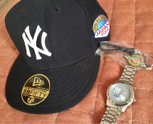 ☆非売品・ヤンキース日本開幕戦・配布腕時計、ストラップ、キャップセット☆ グッズの画像