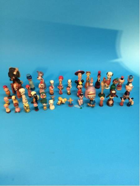 希少 レア ディズニーキャラクター ひょっこりひょうたん島? 木製 ミニこけし 首振り フィギュア 44体 ミッキーなど 現状品 ディズニーグッズの画像