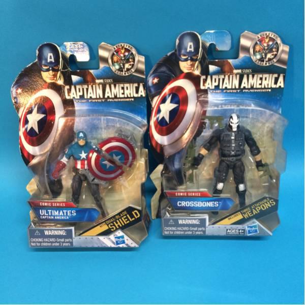 アメコミ キャプテンアメリカ フィギュア2体セット キャプテンアメリカ クロスボーンズ 映画グッズの画像