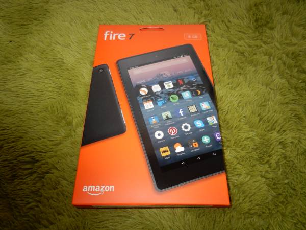 【美品】Amazon Fire 7 タブレット(Newモデル) 8GB ブラック(6月7日発売分) Google Playストア導入済み