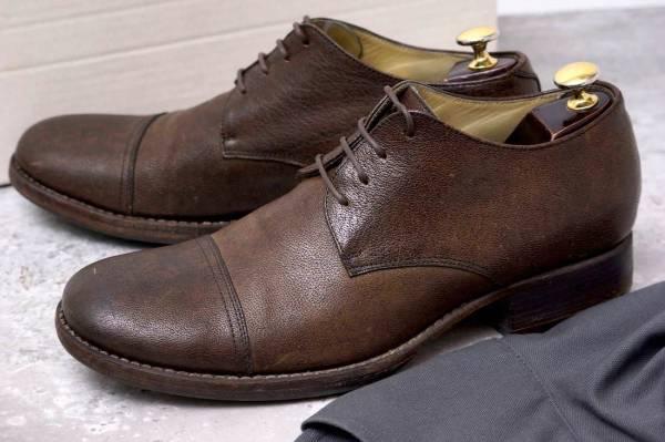 CARPE DIEM カルペ ディエム カジュアルシューズ 靴 S22M cap toe leather derby キャンプトゥ オックスフォードシューズ EU42 x3328_画像1