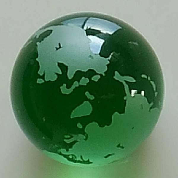 ガラスの地球儀 緑色 直径約7cm_画像3