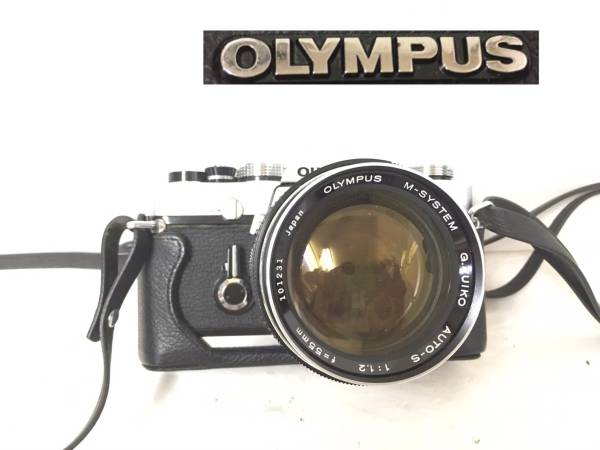 2198: OLYMPUS オリンパス M-1/フィルムカメラ/AUTO-S/1:1.2/f=55mm/ジャンク