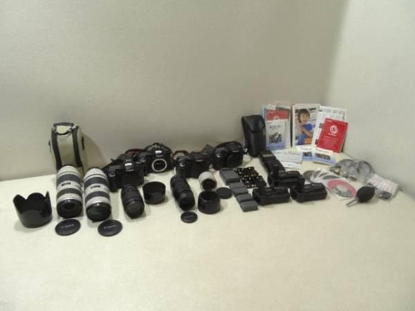 Canonキャノン EOS 40D 30D レンズ 70 200mm 2.8 77mm 100 300mm 4.5 5.6 EXTENDER EF 2x エクステンダー バッテリーグリップ BG-E2 CG-580