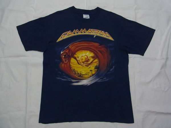 ☆ 90s GAMMA RAY ガンマ・レイ 1996 ツアー Tシャツ sizeL 紺 ☆USA古着 ジャーマンメタル ハロウィン ブラインド・ガーディアン